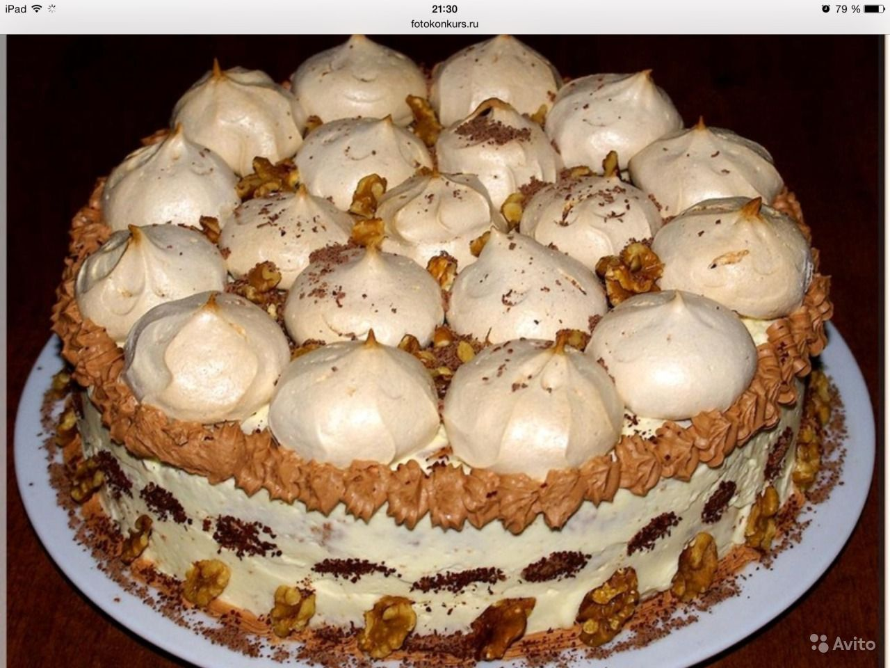 Торт из безе рецепт пошагово в домашних