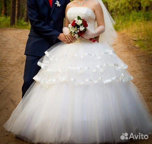 Свадебное платье на 9 колец