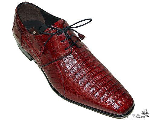 Мужская обувь из экзотической кожи (luxurybutik).  56 000.