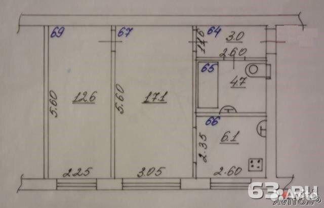 2-к квартира, 43 м², 1/5 эт. 89084174480 купить 7