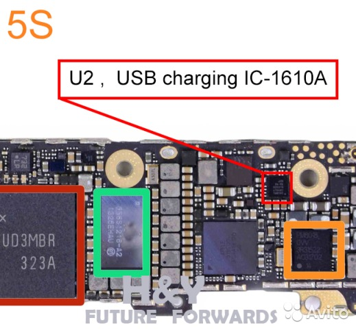 замена микросхем iphone 5s