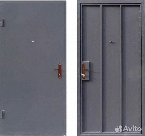 технические двери металлические подъездные