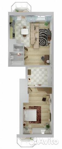 2-к квартира, 76.5 м², 2/25 эт.