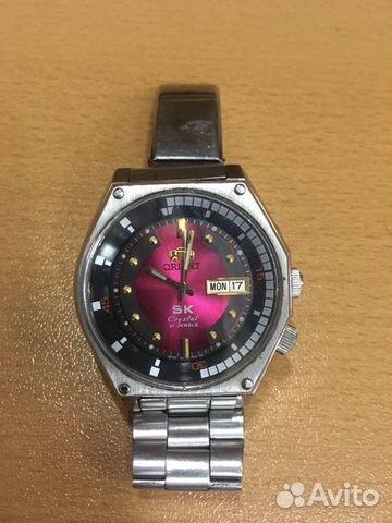 Брутальные мужские механические часы ориент
