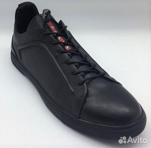 2558d6d7 Мужские кожаные кеды Prada Sport черные | Festima.Ru - Мониторинг ...