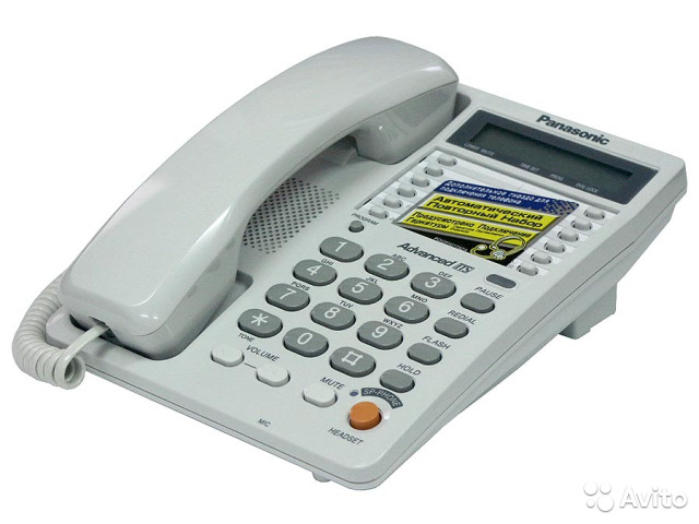 Телефон panasonic модель № kx-ts2368ruw, kx-ts2363ruw.