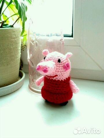свинка пеппа игрушка вязаная амигуруми Festimaru мониторинг