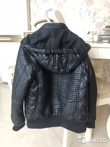 Куртка для мальчика демисезонная, 122-128, кожзам 89200027062 купить 2