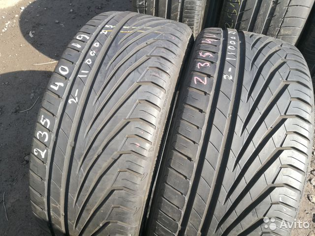 Шины 235 40 19 Uniroyal The Rain Tyre бу 2шт— фотография №1