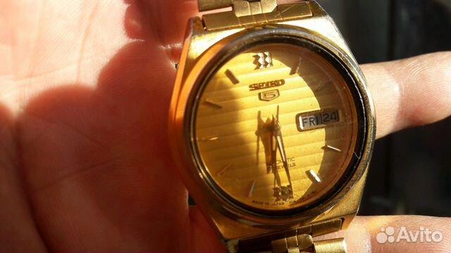 Мужские позолоченные наручные часы Seiko 5 89283211593 купить 5