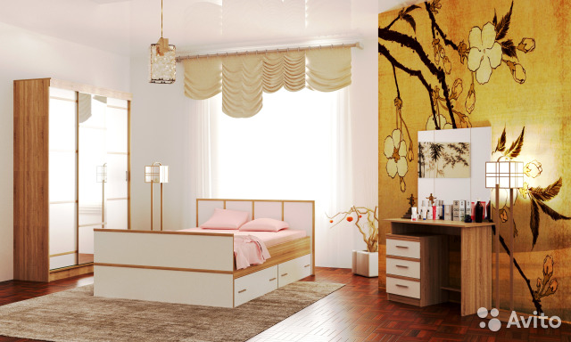 Модульная спальня Сакура глянец
