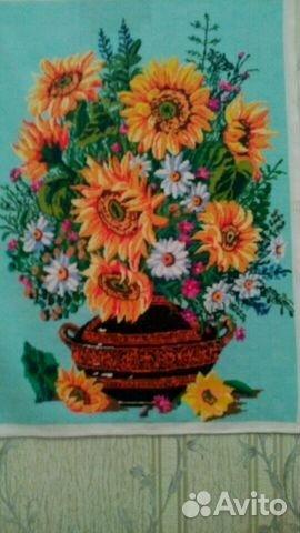 Вышивка картина ручная работа82x56.большая купить в Республике Крым ... 1e9fea5daa0eb