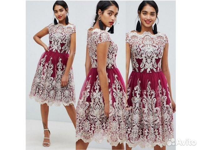 16b4b555f98 Красивое расшитое платье с пышной юбкой купить в Москве на Avito ...