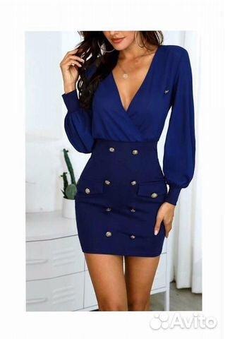 Новое коротенькое сексапильное платье Италия р.42 купить 1