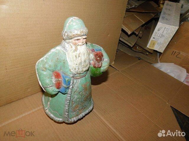 Старинная новогодняя игрушка дед Мороз пресс-опилк  89065103360 купить 2