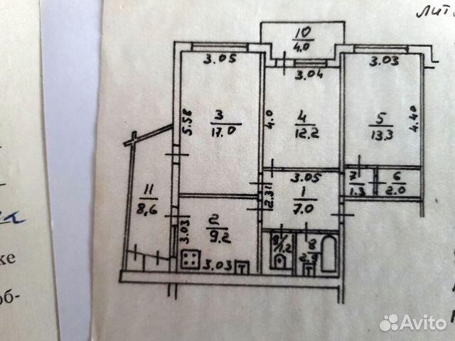 3-к квартира, 79 м², 2/9 эт.  купить 10