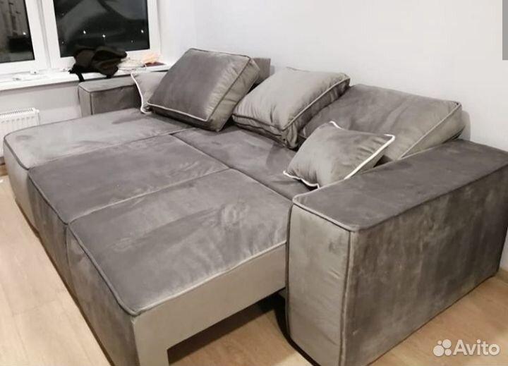 Диван белла с оттоманкой серый  89634548144 купить 2