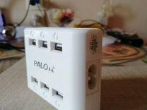 Сетевое Зарядное устройство USB на 6 портов, кажды