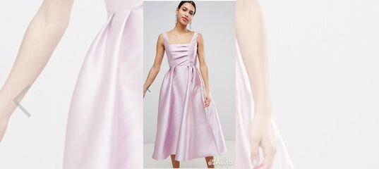 44649e27acb Розовое атласное платье с пышной красивой юбкой купить в Москве на Avito —  Объявления на сайте Авито