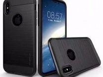 Противоударный силиконовый чехол iPhone X Black