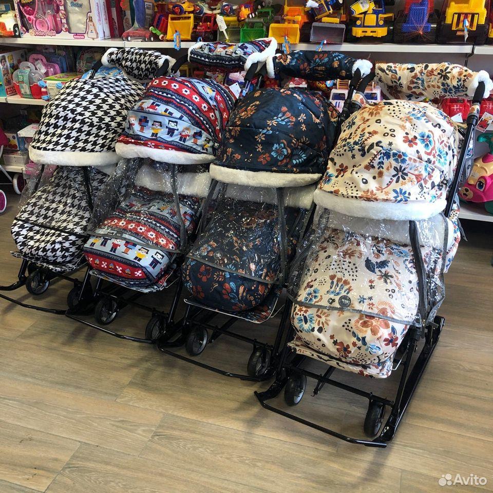 Санки-коляска Nika kids 7-5, цвета микс  89225759000 купить 2