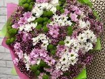 Хризантема кустовая цветы букет