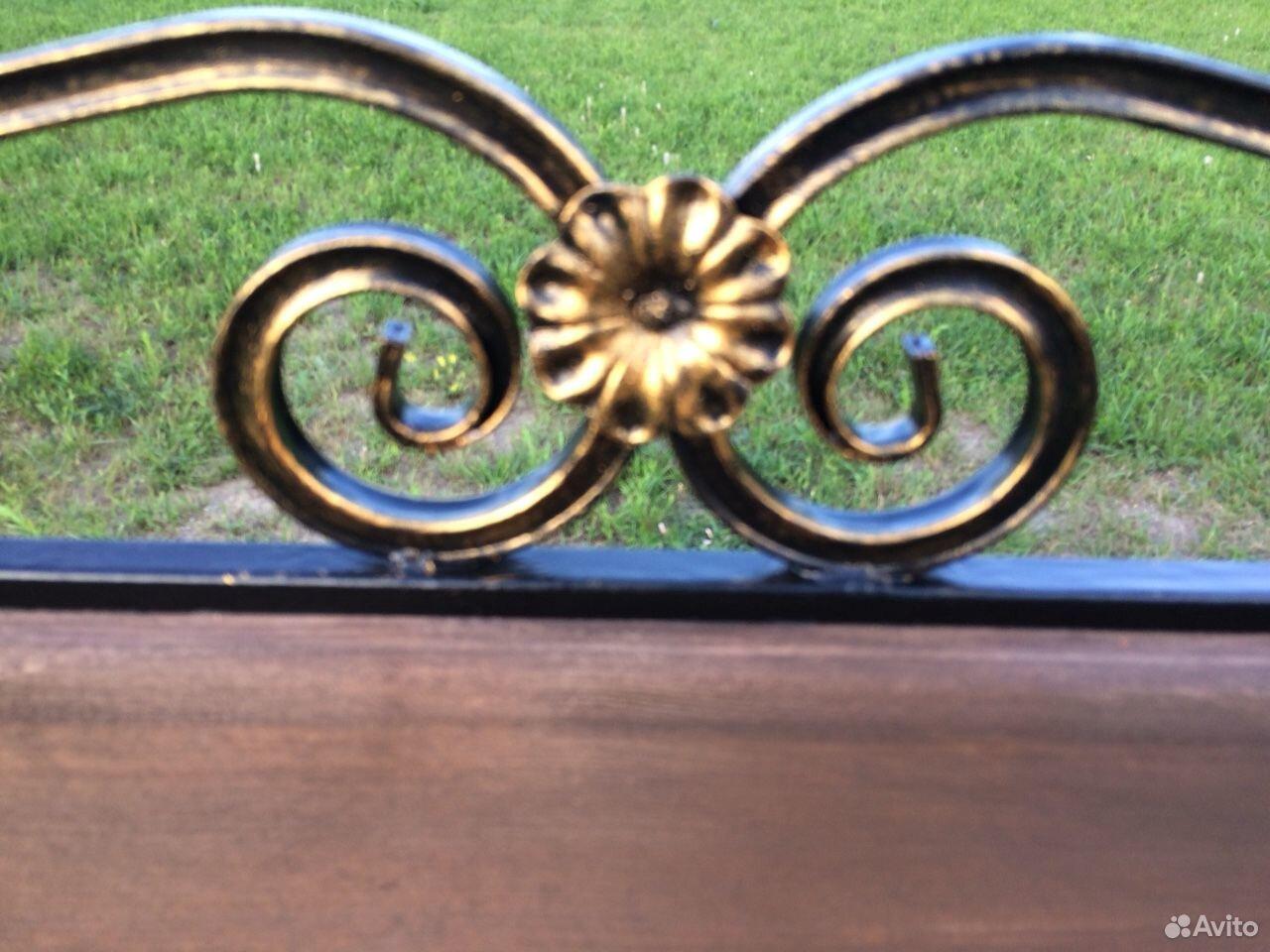 Скамейка садовая лавочка с элементами ковки  89231448101 купить 4