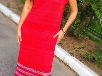 Хлопковое летнее трикотажные платье