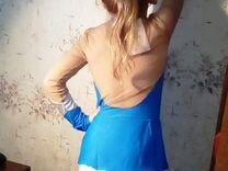 Платье, колготки, перчатки, для фигурного катания