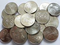 Россия 25 рублей 2018 г. чм по футболу