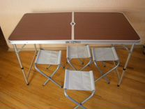 Кемпинговый столик со стульями 4 шт