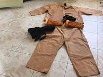 Замшевый костюм для сварщика, шлем, утеплённые кра — Одежда, обувь, аксессуары в Геленджике