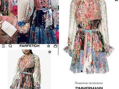 Zimmermann bellitude шифоновое короткое платье