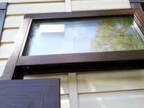 Дверь металлопластиковая теплая коричневая